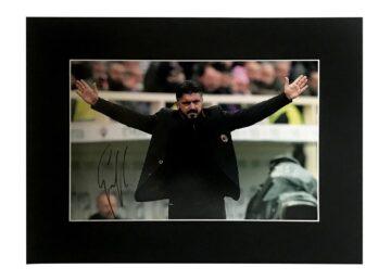 Genaro Gattuso Signature - AC Milan Photo Display