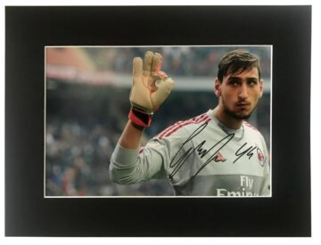 Gianluigi Donnarumma Signature, Signed Photo Display - Firma Stella