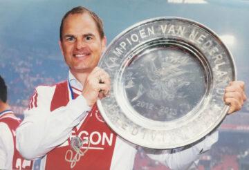 Signed Frank De Boer Photo - Ajax, Champions - Firma Stella