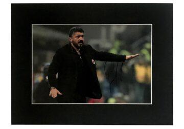 Signed Genaro Gattuso Photo Display - AC Milan
