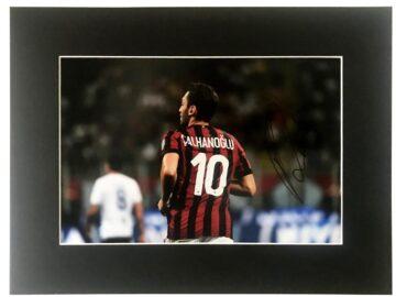Signed Hakan Calhanoglu Photo - AC Milan Display - Firma Stella