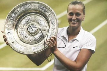Signed Petra Kvitova Photo - Wimbledon Tennis Champion - Firma Stella