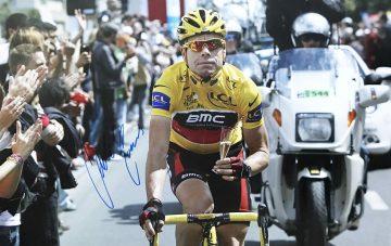 Cadel Evans Signed Poster - Genuine Tour de France Autograph