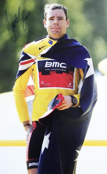 Signed Cadel Evans Poster Photo - Tour de France Champion