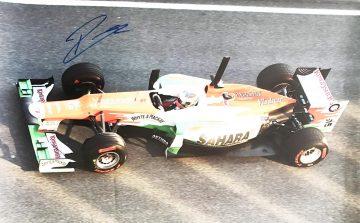 Signed Paul Di Resta Poster - Photo Authentic Formula 1 Autograph