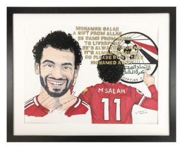 Signed Mo Salah Artist Display