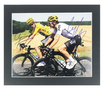 Signed Chris Froome & Geraint Thomas Photo