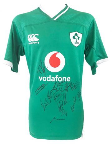 Autographed Ireland Rugby Jersey
