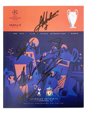 Signed Liverpool FC Programme