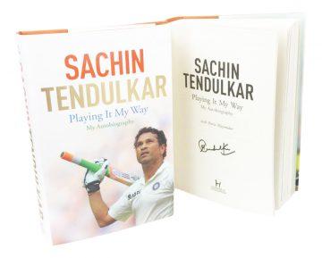 Signed Sachin Tendulkar Book