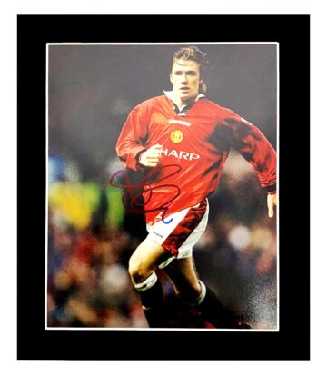 Signed David Beckham Photo