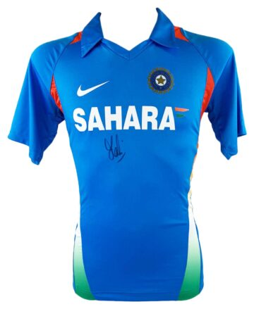 Signed MS Dhoni Shirt