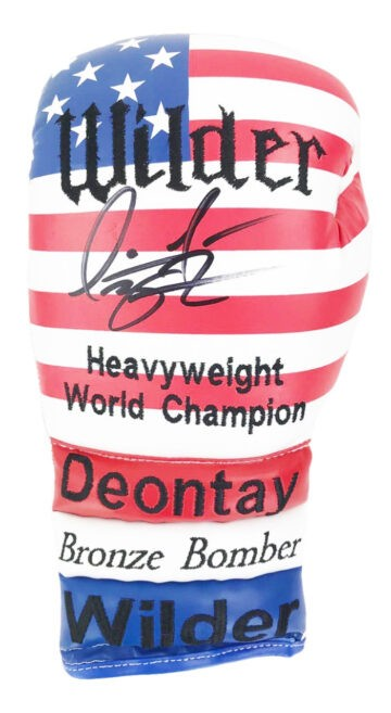 Signed Deontay Wilder Boxing Glove