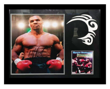 Signed Mike Tyson Display