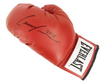 Signed Lenox Lewis Boxing Glove