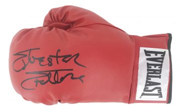 Signed Sylvester Stallone Glove