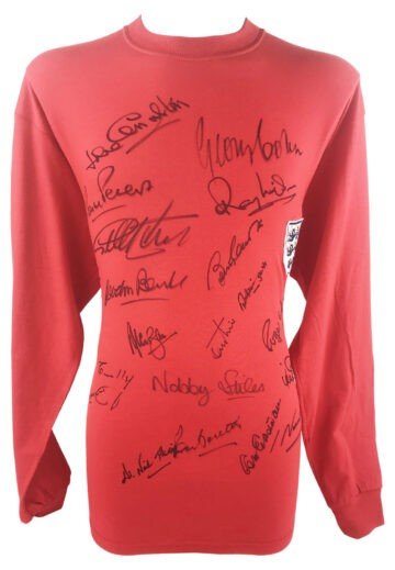 Signed England Football Jersey