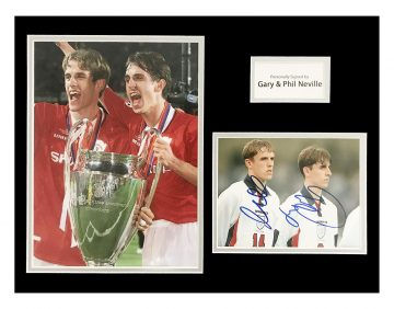 Signed Gary & Phil Neville Photo