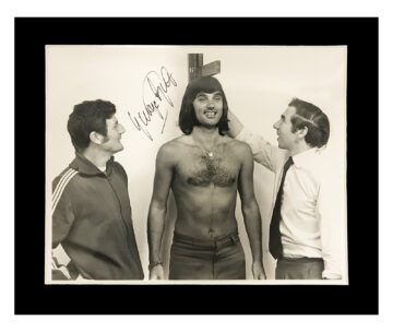 Signed George Best Photo