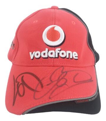 Signed Lewis Hamilton & Jenson Button Cap
