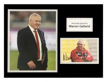 Signed Warren Gatland Photo