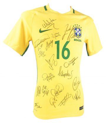 Signed Brazil Football Jersey