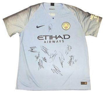 Signed Manchester City Jersey