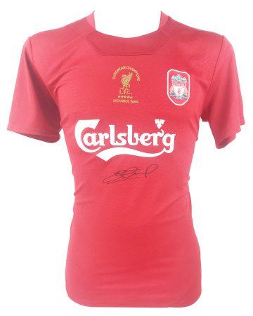 Signed Steven Gerrard Shirt