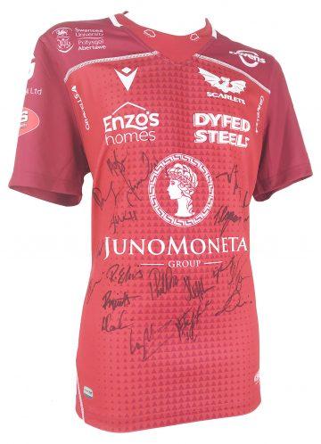 Signed Llanelli Scarlets Shirt