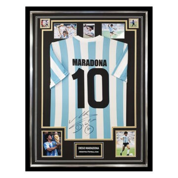 Signed Diego Maradona Jersey Framed - Argentina Football Icon